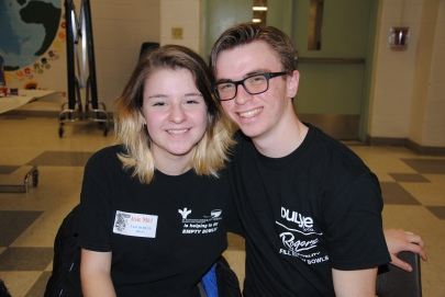 Two of our Student Helpers