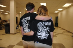 Student volunteers with Empty Bowls T-Shirts