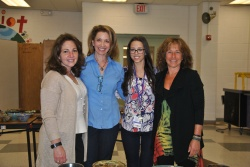 WVHS Empty Bowls club advisors and potters