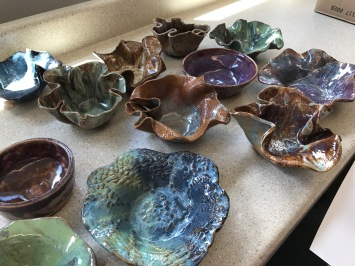 Bowls made by the WVHS Empty Bowls club.