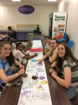 Members of the WVHS Empty Bowls Club made beautiful bowls throughout the school year, and helped at the event in many ways.