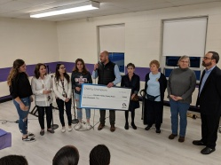 """Altice presented a $1000 award to Warwick Valley Empty Bowls 2019 through its """"Charity Champions"""" program."""