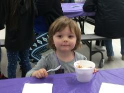 Enjoying the ice cream social.