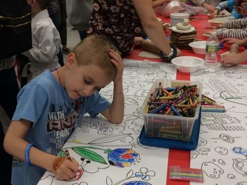 A fun coloring activity.
