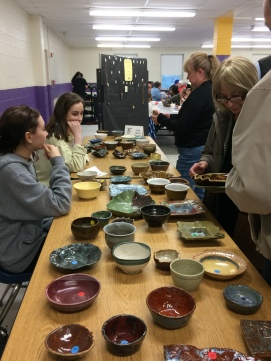 Members of the WVHS Empty Bowls Club made beautiful bowls and helped at the event in many ways.
