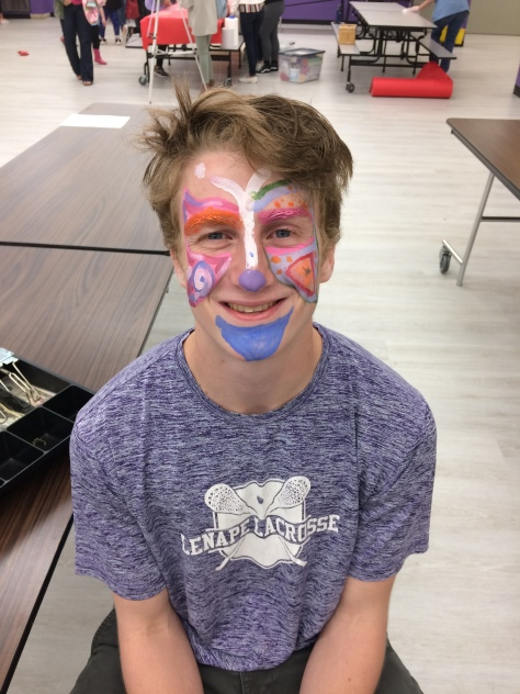 Look at that face painting.